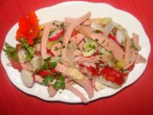 Fleisch : - Fleischkäsesalat mit Kartoffelmarinade - - Rezept