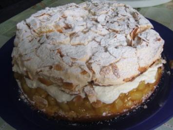 Apfel-Baiser-Torte   die schmeckt nach Sommer, - Rezept