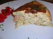 Lachs-Spargel-Quiche mit frischem Dill - Rezept