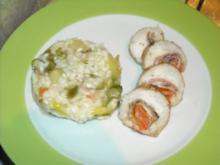 Fischroulade an Spargelrisotto - Rezept