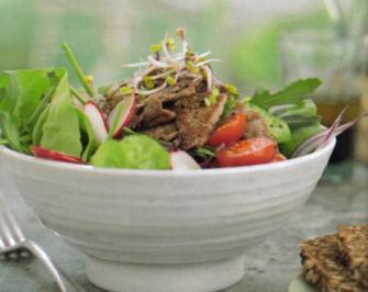 Salat mit Filetspitzen - Rezept