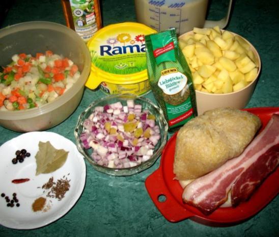 Eintopf - Strohleim ... oder Sauerkraut unnergekocht - Rezept - Bild Nr. 2