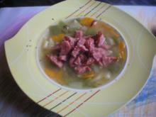 Schnippelbohnensuppe mit Carbanossi (Rezept überarbeitet) - Rezept