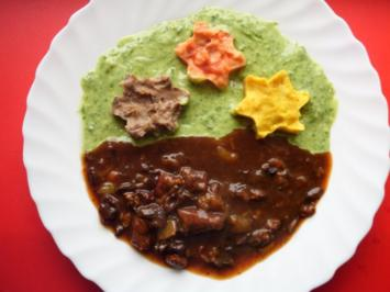 Gulasch mit 3 Sterne auf grüner Wiese - Rezept