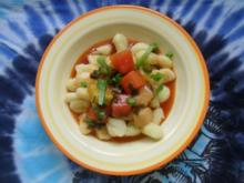 Gnocchi süß-sauer; mit Früchten - Rezept