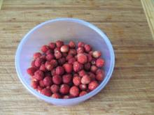 Walderdbeer-Marmelade - kaltgerührt mit Kristallzucker - Rezept