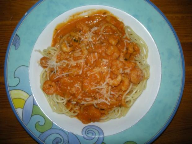 Krabben - Spaghetti - Rezept