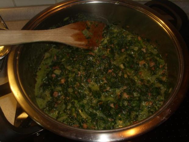 Spinat ,Kartoffeln und Spiegelei - Rezept - Bild Nr. 5