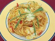 Halbe Langusten an Safransoße mit Spaghetti (Bruno Eyron) - Rezept