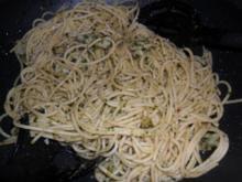 Koriandernudeln mit Gambas Alio-Olio - Rezept