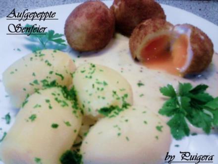 Aufgepeppte Eier in Senfsauce - Rezept