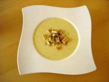 Maissuppe mit Croutons - Rezept