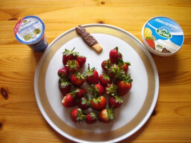 Dessert: Erdbeeren mit Mascarpone - Rezept - Bild Nr. 3