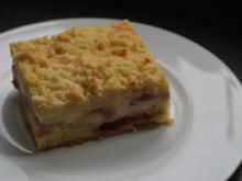 Erdbeer-Quark-Kuchen mit Streuseln vom Blech - Rezept