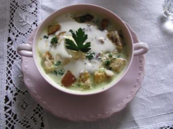 Suppen: Sahnige Zucchinicremesuppe - Rezept