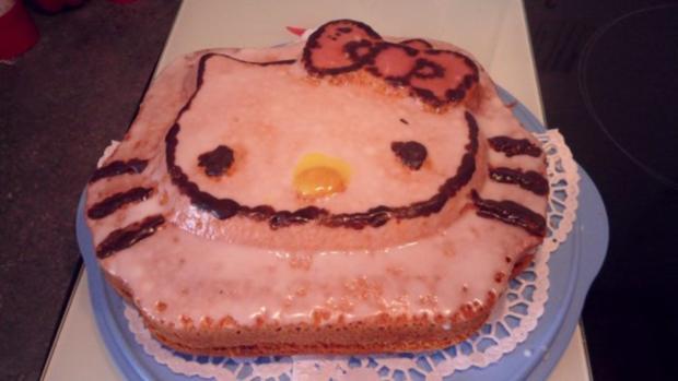 Hallo Kittykuchen zum Geburtstag meiner Enkelin   (Joghurtkuchen) - Rezept - Bild Nr. 2