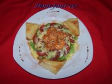 Salat mit Garnelen - Rezept