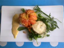 Ochsenherz | Blauschimmelkäse vom Zicklein | Wildkräutersalat | Mohnmayonnaise - Rezept