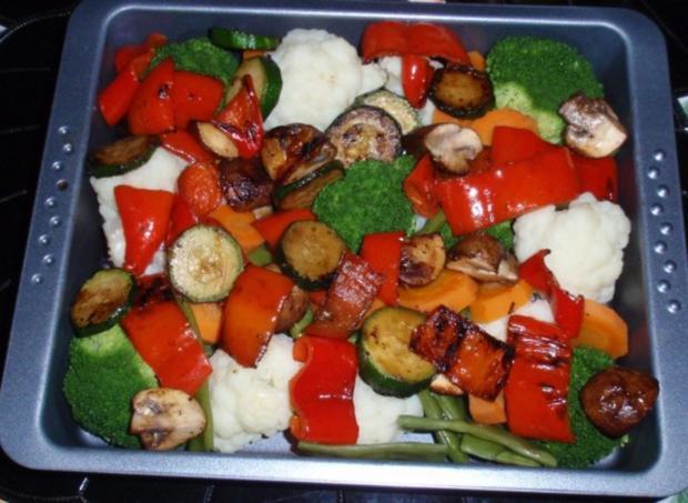 Bunter Gemüse-Auflauf mit Mozzarella überbacken - Rezept - Bild Nr. 10