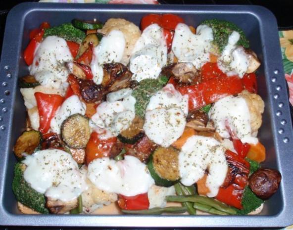 Bunter Gemüse-Auflauf mit Mozzarella überbacken - Rezept - Bild Nr. 12