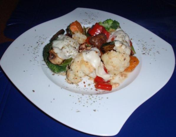 Bunter Gemüse-Auflauf mit Mozzarella überbacken - Rezept - Bild Nr. 13