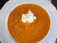 Beschwippstes Karotten-Ingwer-O-saft Süppchen - Rezept