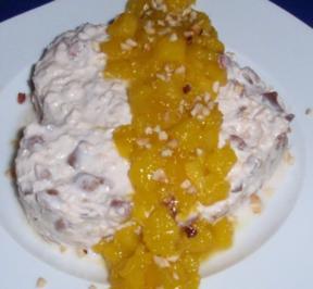 Herziges Frühstücksmüsli mit karamellisierten Mangostückchen - Rezept