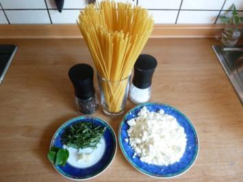 Spaghetti mit Schafskäse und Salbei - Rezept