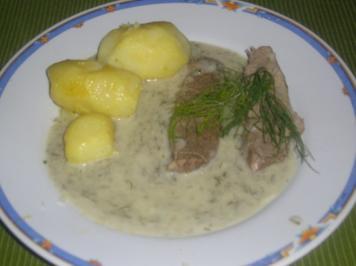 Gekochtes Rindleisch mit Dillsauce - Rezept