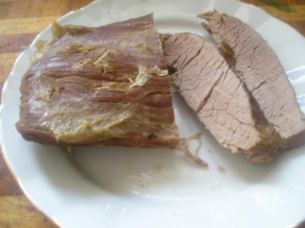 Gekochtes Rindleisch mit Dillsauce - Rezept - Bild Nr. 5