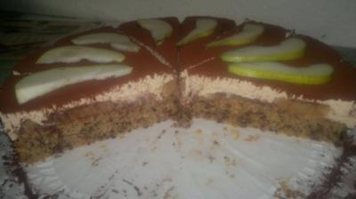 Rezept: Cappuccino-Birnen-Torte