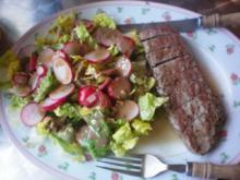 Rosmarin-Lamm mit Römer-Salat - Rezept