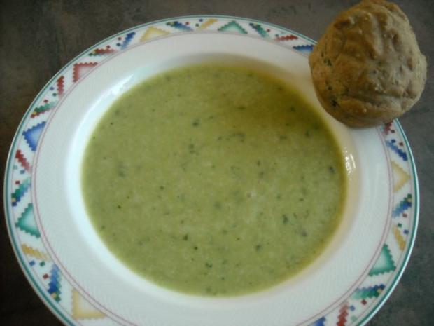 Lauch-Creme-Suppe mit Wildkräuter - Rezept - Bild Nr. 2
