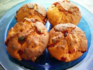 Muffin - Johannisbeere Marzipan - Rezept