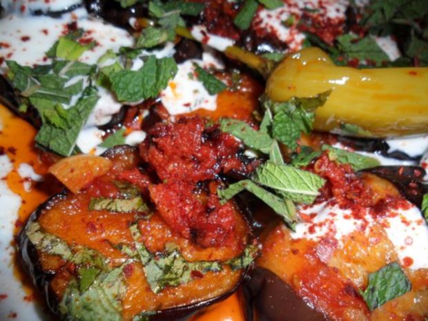 Gebratene Auberginen (Afghanische Art) - Rezept