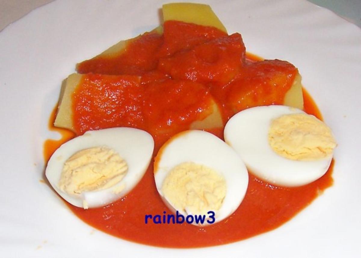 kochen eier auf p riertem letscho rezept. Black Bedroom Furniture Sets. Home Design Ideas