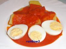 Kochen: Eier auf püriertem Letscho - Rezept