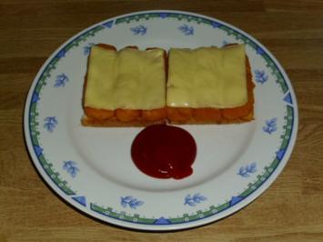 Rezept: Fischstäbchen-Toast