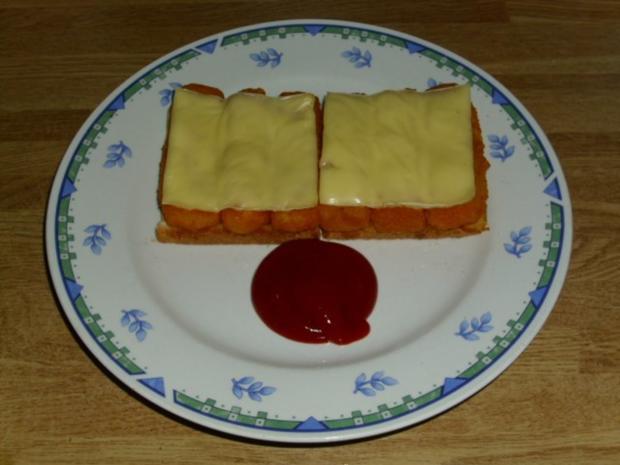 Fischstäbchen-Toast - Rezept