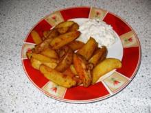Country potatoes - Wedges -  gebackene Kartoffelecken - Rezept