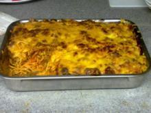Spaghetti-Pizza ( Gaumenfreude für Groß und Klein ) - Rezept