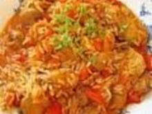 Curry-Puten-Reis - Rezept