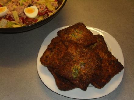 Beilage Pannierter Toast - Rezept