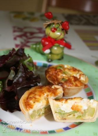 Zucchini-Feta Tartelettes / mit Raupi und Bild... - Rezept