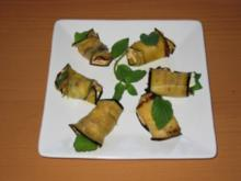 Gefüllte Auberginenröllchen - Rezept