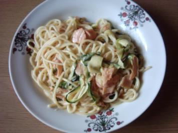 Pastasoße Lachs-Sahnesoße - Rezept