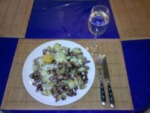 Fleisch: Kartoffel-Fleischkäsepfanne - Rezept