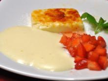 Gratiniertes Tresterparfait mit marinierten Erdbeeren unter Eiswein-Zabaione - Rezept