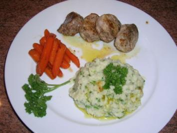 Rezept: Schweinefilet mit Blumenkohlpüree und Kümmelmöhrchen,wieder einmal lecker und leichte Kost