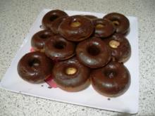 Mini-Donuts mit Schokoladen-Glasur - Rezept
